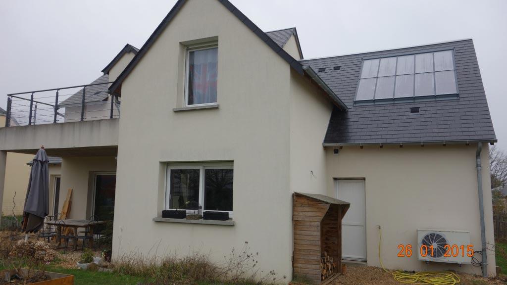 Système solaire combiné Clipsol à Saint Avertin 37 Indre et Loire